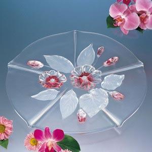 Блюдо EVITA для торта розовое 34см