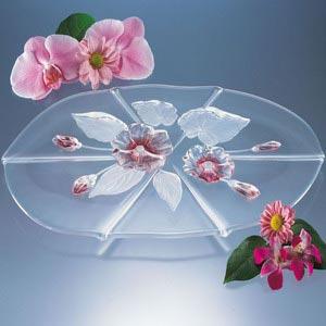 Блюдо EVITA для канапе розовое 41см