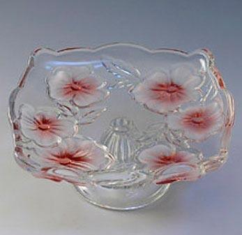 Тарелка FLOWER FANCIES ROSE на ножке розовая 17см, 6шт