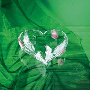 Ваза-сердце NADINE SATIN - ROSE 24см