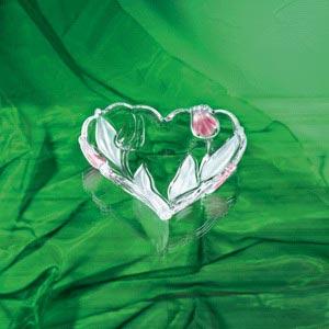 Ваза-сердце NADINE SATIN - ROSE 16см
