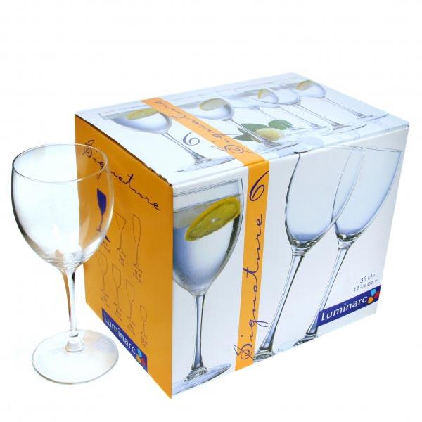 Фужеры для вина SIGNATURE 350мл, 6шт