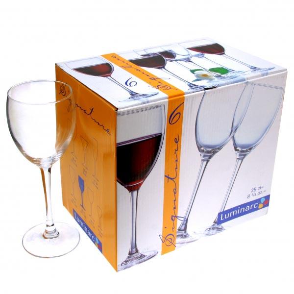 Фужеры для вина SIGNATURE 250мл, 6шт