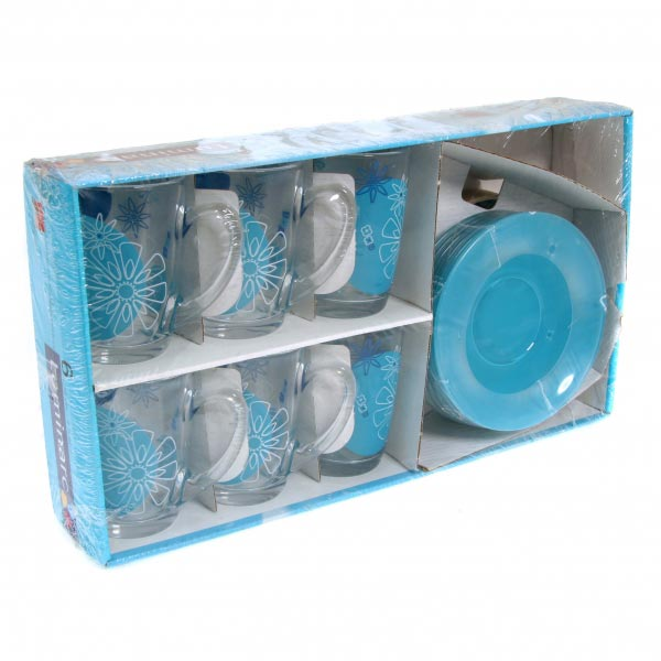 Чайный сервиз GRAPHIC FLOWERS BLUE 220мл