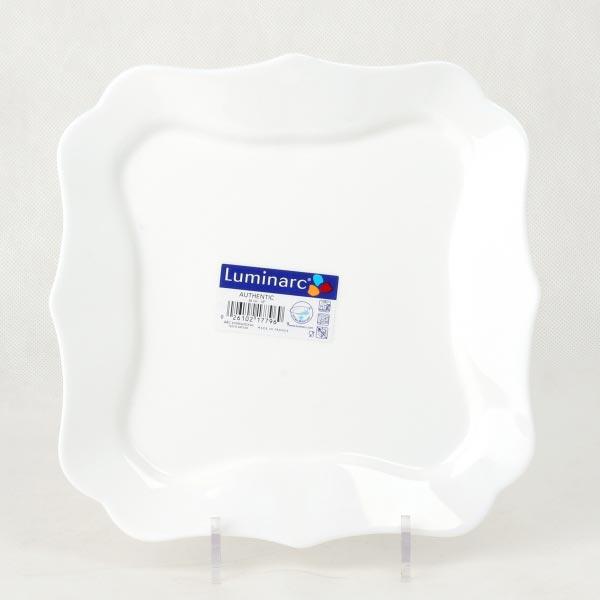 Тарелка обеденная AUTHENTIC WHITE 25.5 см, 6 шт - интернет-магазин посуды Luminarc