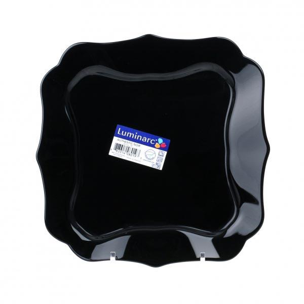 Тарелка обеденная AUTHENTIC BLACK 25.5 см, 6 шт - интернет-магазин посуды Luminarc
