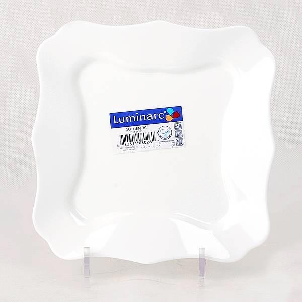 Тарелка десертная AUTHENTIC WHITE 20.5см, 6шт