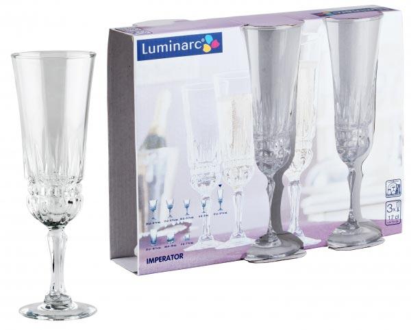 Фужеры для шампанского IMPERATOR 180мл, 3шт