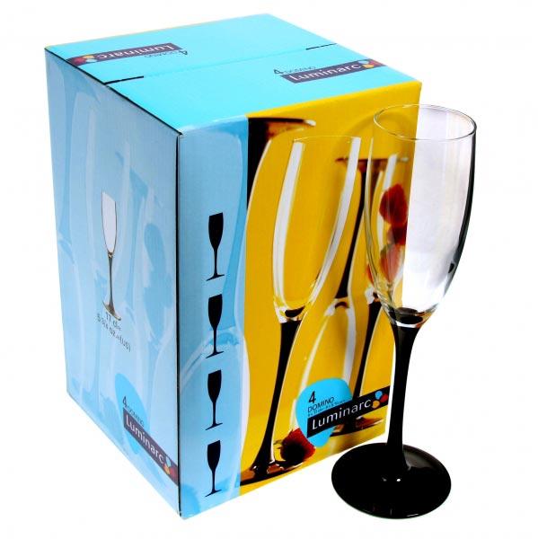 Фужеры для шампанского DOMINO 170 мл, 4 шт - интернет-магазин посуды Luminarc