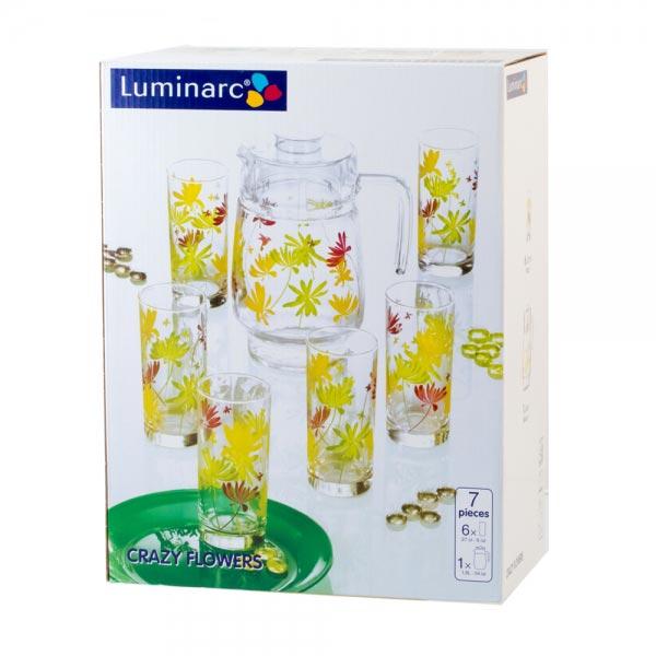 Питьевой набор CRAZY FLOWERS 7 предметов