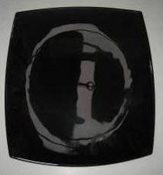 Тарелка обеденная QUADRATO черная