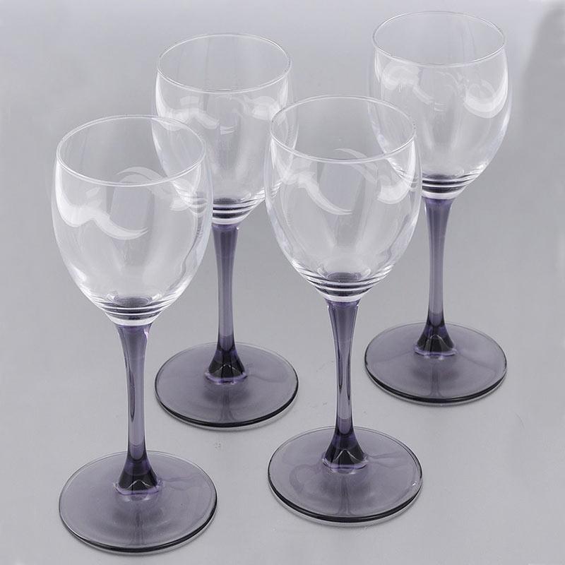 Фужеры для вина SWEET LILAC BLEU 190мл, 4шт
