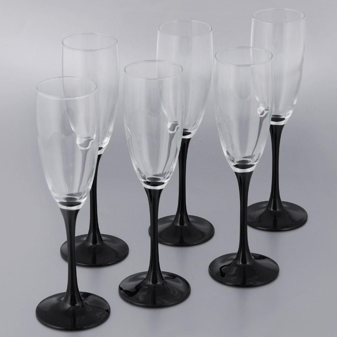 Фужеры для шампанского DOMINO 170мл, 6шт