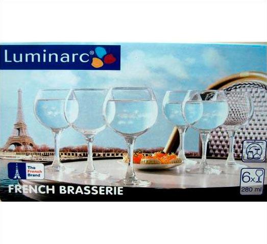Фужеры для вина Французский ресторанчик 280мл, 6шт