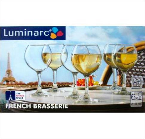 Фужеры для вина Французский ресторанчик 210мл, 6шт