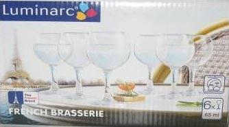 Рюмка Французский ресторанчик 65 мл, 6 шт - интернет-магазин посуды Luminarc