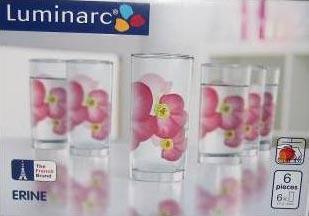 Стаканы ERINE высокие 270 мл, 6 шт - интернет-магазин посуды Luminarc