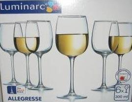 Фужеры для вина Алегресс 300мл, 6шт