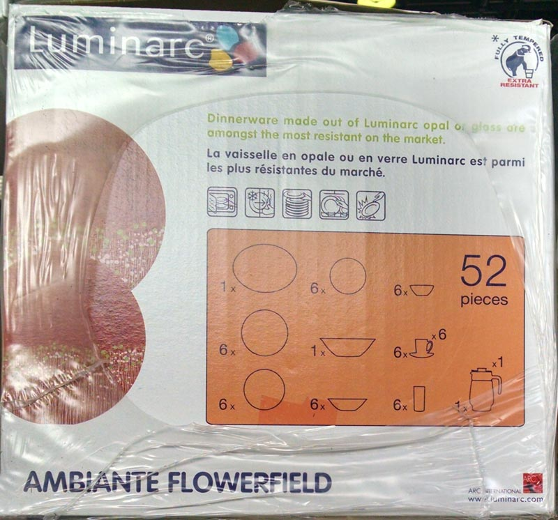 Столовый сервиз AMBIANTE FLOWERFIELD 52 предмета