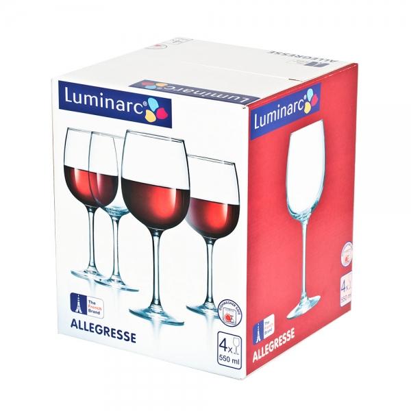 Фужеры для вина Алегресс 550 мл, 4 шт - интернет-магазин посуды Luminarc