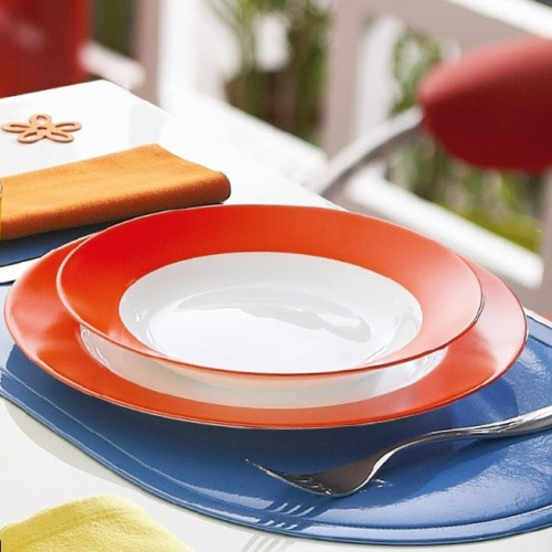 Столовый сервиз EVERARTY ORANGE 18 предметов - интернет-магазин посуды Luminarc