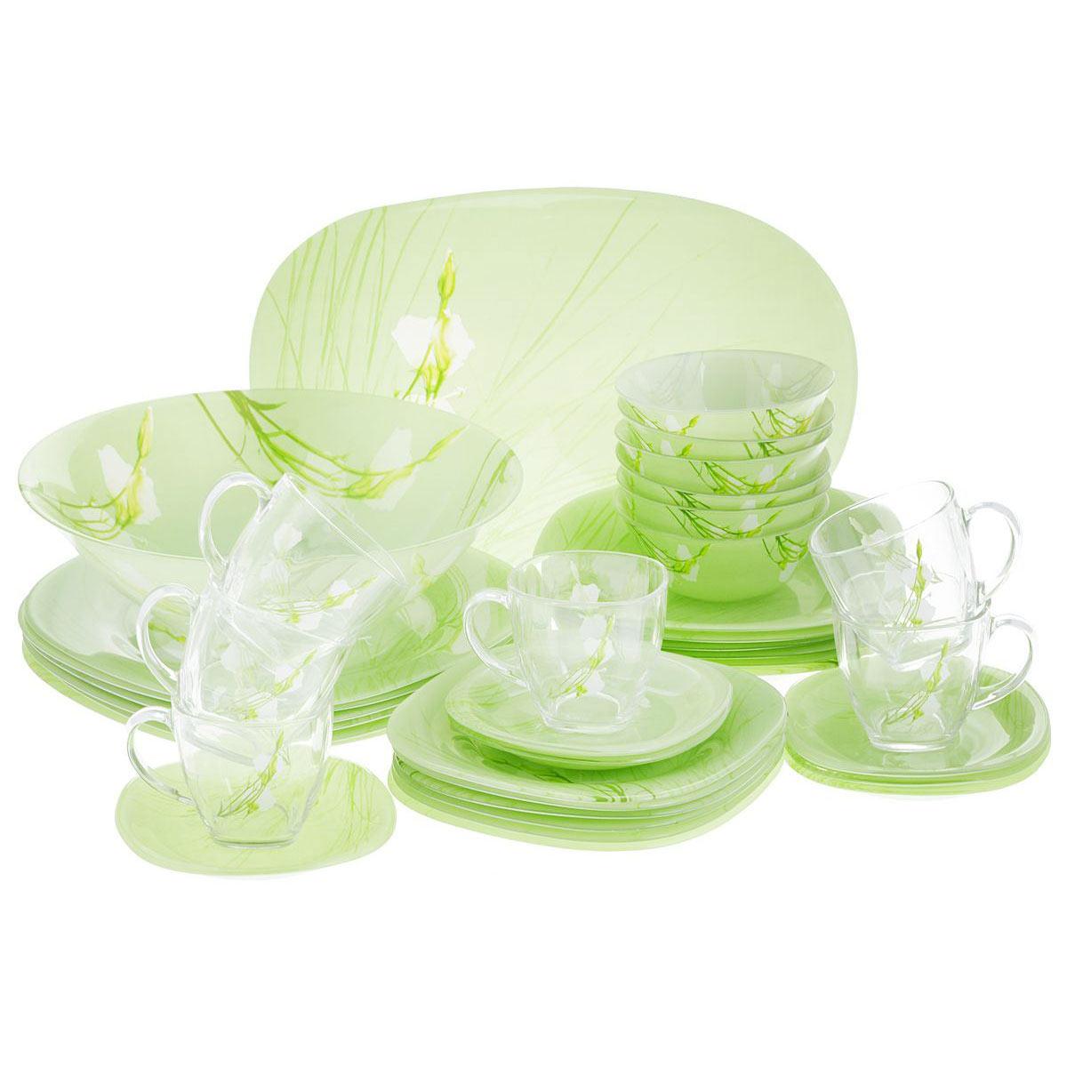 Столовый сервиз CARINA SOFIANE GREEN 46 предметов - интернет-магазин посуды Luminarc