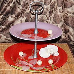 Этажерка RED ORCHIS из 2-х тарелок