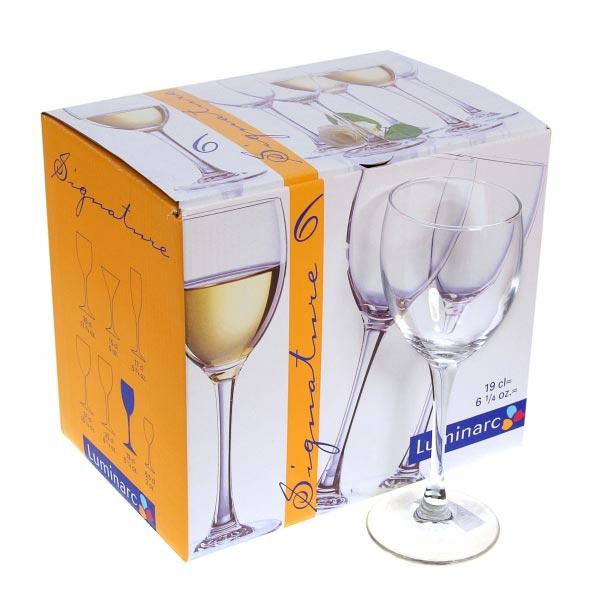 Фужеры для вина SIGNATURE 190мл, 6шт
