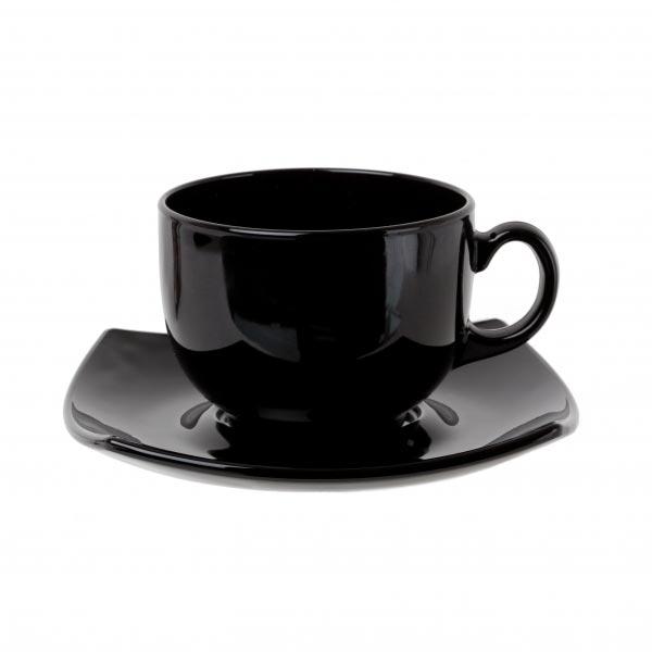 Чайный сервиз QUADRATO черный 220мл