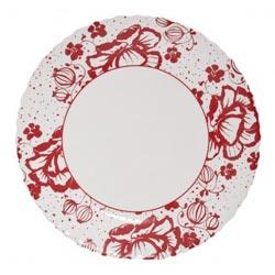 Тарелка обеденная ALCOVE RED 25см
