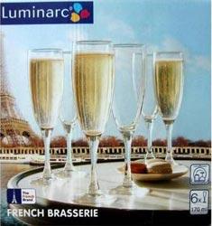 Фужеры для шампанского Французский ресторанчик 170мл, 6шт