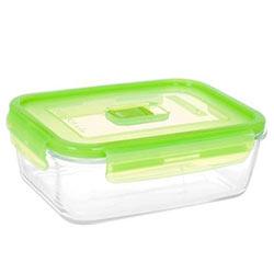 Контейнер с крышкой RECT PURE BOX ACTIVE GREEN стекло 820мл