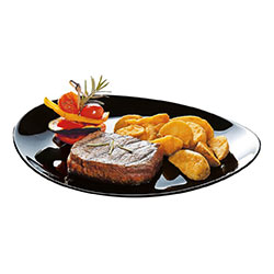 Блюдо для стейка FRIENDS TIME BLACK 35см