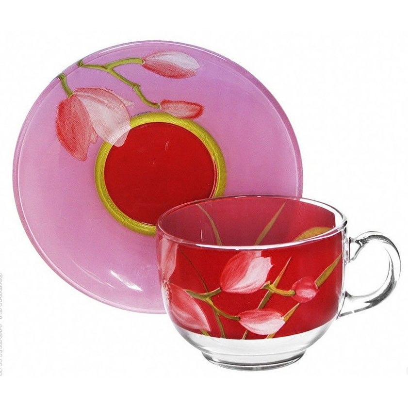 Чайный сервиз RED ORCHIS 220мл